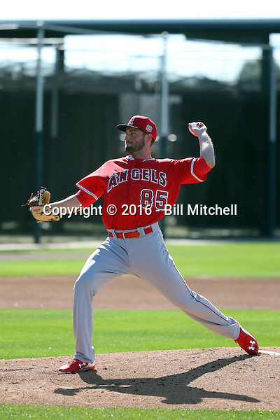 Nate Smith - Los Angeles Angels 2016 spring training (Bill Mitchell)