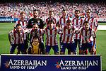 Atletico de Madrid´s initial players before 2013-14 La Liga Atletico de Madrid V Espanyol match at Vicente Calderon stadium in Madrid, Spain. October 19, 2014. (ALTERPHOTOS/Victor Blanco)