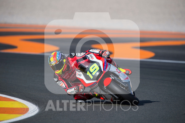 VALENCIA, SPAIN - NOVEMBER 11: Xavier Simeon during Valencia MotoGP 2016 at Ricardo Tormo Circuit on November 11, 2016 in Valencia, Spain