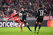 December 5th 2017, Allianze Arena, Munich, Germany. UEFA Champions league football, Bayern Munich versus Paris St Germain;  25 ADRIEN RABIOT (psg) challenges Sebastian Rudy (bay)
