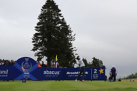 Annie Park of Team USA on the 2nd tee during Day 2 Fourball at the Solheim Cup 2019, Gleneagles Golf CLub, Auchterarder, Perthshire, Scotland. 14/09/2019.<br /> Picture Thos Caffrey / Golffile.ie<br /> <br /> All photo usage must carry mandatory copyright credit (© Golffile | Thos Caffrey)