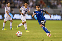 CARSON, CA - August 8, 2014: San Jose Earthquake forward Matias Perez Garcia (11) during the LA Galaxy vs San Jose Earthquakes match at the StubHub Center in Carson, California. Final score, LA Galaxy 2, San Jose Earthquakes 2.