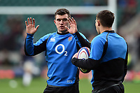 Ben Spencer of England looks on during the pre-match warm-up. Guinness Six Nations match between England and Scotland on March 16, 2019 at Twickenham Stadium in London, England. Photo by: Patrick Khachfe / Onside Images
