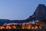 Puig Campana Massif above the old village of Finestrat, Alicante province, Costa Blanca,Spain