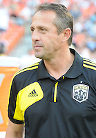 Columbus Crew head coach Robert Warzycha.  D.C. United defeated The Columbus Crew 1-0 at RFK Stadium, Saturday August 4, 2012.