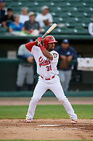 Peoria Chiefs designated hitter J.R. Davis (30) at bat during a game against the West Michigan Whitecaps on May 9, 2017 at Dozer Park in Peoria, Illinois.  Peoria defeated West Michigan 3-1.  (Mike Janes/Four Seam Images)
