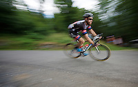 Simon Geschke (DEU/Giant-Alpecin) descending the Col de Chaussy (C1/1533m/14.4km@6.3%)<br /> <br /> stage 19: St-Jean-de-Maurienne - La Toussuire / Les Sybelles   (138km)<br /> Tour de France 2015