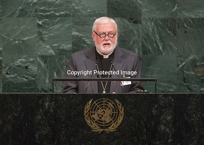 72 General Debate – 25th of September  2017<br /> <br /> H.E. Paul Richard GALLAGHER<br /> <br /> Secretary for the Relations with States of the HOLY SEE