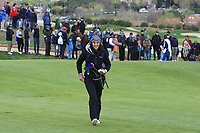 A radiant smile from our Sky Sports commentator on the 10th fairway during Round 2 of the Open de Espana 2018 at Centro Nacional de Golf on Friday 13th April 2018.<br /> Picture:  Thos Caffrey / www.golffile.ie<br /> <br /> All photo usage must carry mandatory copyright credit (&copy; Golffile | Thos Caffrey)