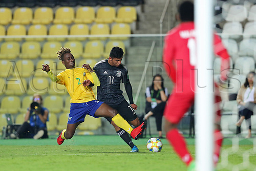 3rd November 2019; Kleber Andrade Stadium, Cariacica, Espirito Santo, Brazil; FIFA U-17 World Cup Brazil 2019, Mexico versus Solomon Islands; Bryan Gonzalez of Mexico and Derrick Taebo of Solomon Islands