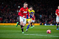 Sunday 05 January 2014<br /> Pictured: Alejandro Pozuelo chases the ball <br /> Re: Manchester Utd FC v Swansea City FA cup third round match at Old Trafford, Manchester