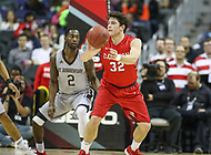 Washington, DC - March 10, 2018: Davidson Wildcats guard Rusty Reigel (32) passes the ball during the Atlantic 10 semi final game between St. Bonaventure and Davidson at  Capital One Arena in Washington, DC.   (Photo by Elliott Brown/Media Images International)