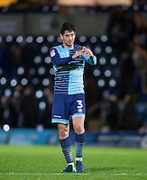 Joe Jacobson of Wycombe Wanderers applauds the support after the Sky Bet League 2 match between Wycombe Wanderers and Yeovil Town at Adams Park, High Wycombe, England on 14 January 2017. Photo by Andy Rowland / PRiME Media Images.
