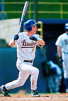 Chase Utley of the UCLA Bruins participates in a baseball game at Jackie Robinson Stadium during the 1998 season in Los Angeles, California. (Larry Goren/Four Seam Images)