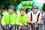 Easy Riders: Seamus and David Costello Castleisland with Jimmy Collins Scartaglen at the start of the Ring of Kerry cycle in Killarney on Saturday morning
