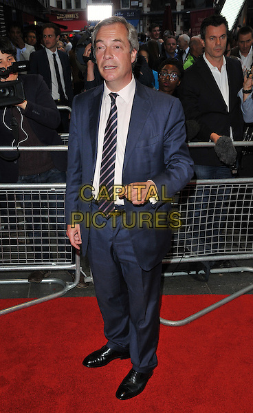 Nigel Farage at the &quot;Brexit: The Movie&quot; UK film premiere, Odeon Leicester Square cinema, Leicester Square, London, England, UK, on Wednesday 11 May 2016.<br /> CAP/CAN<br /> &copy;Can Nguyen/Capital Pictures