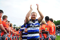 Ross Batty of Bath Rugby acknowledges the crowd after the match. Aviva Premiership match, between Bath Rugby and Newcastle Falcons on September 10, 2016 at the Recreation Ground in Bath, England. Photo by: Patrick Khachfe / Onside Images