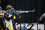 COLUMBUS, OH - MARCH 11: Milica Babic of West Virginia University competes during the Division I Rifle Championships held at The French Field House on the Ohio State University campus on March 11, 2017 in Columbus, Ohio. (Photo by Jay LaPrete/NCAA Photos via Getty Images)