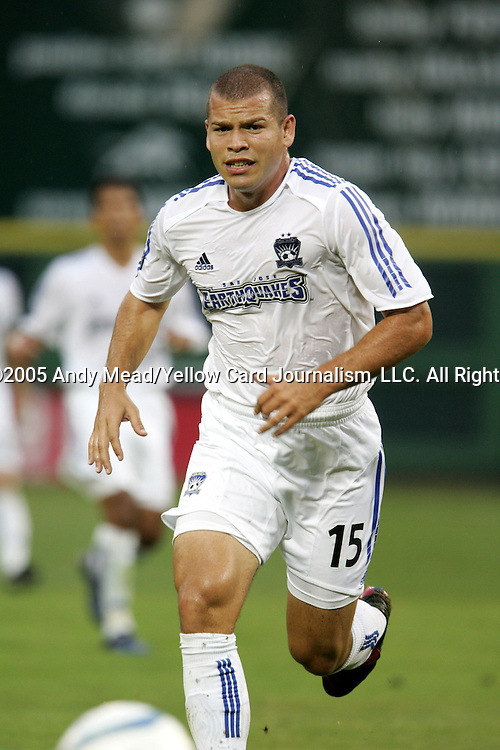 15 July 2005: Alejandro Moreno. DC United defeated the San Jose Earthquakes 3-0 at RFK Stadium in Washington, DC in a regular season Major League Soccer game.