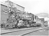 Pilot end fireman side angle view of K-36 #480 and tender end view of K-36 #482 at Salida.<br /> D&amp;RGW  Salida, CO  Taken by Horan, John F. - 7/16/1955