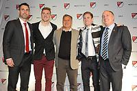 Philadelphia, PA - Thursday January 19, 2018: Carlos Bocanegra, Julian Gressel Gerardo Martino, Jon Gallagher, Paul McDonough during the 2018 MLS SuperDraft at the Pennsylvania Convention Center.