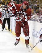 Rence Coassin (Harvard - 17) - The Northeastern University Huskies defeated the Harvard University Crimson 4-0 in their Beanpot opener on Monday, February 7, 2011, at TD Garden in Boston, Massachusetts.