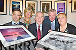 Broadcaster Weeshie Fogarty who opened the Killarney Camera club 10th anniversary photographic exhibition in the Killarney Library on Tuesday evening front row l-r: Seamus Long Chairman, Máire Keane, Weeshie Fogarty, Ignatius O'Shea and Marie Lyne-Kelly Secretary .