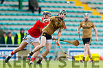 Jordan Conway Kerry in action against David Kenny Mayo in the 2019 Hurling League Division 2a Round 3 at Austin Stack Park in Tralee, on Sunday.