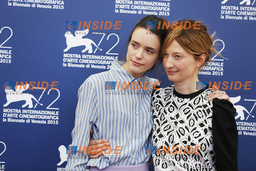 VENICE, ITALY - SEPTEMBER 10: Stacy Martin and Alba Rohrwacher attend 'Taj Mahal' Photocall during 72nd Venice Film Festival at Palazzo Del Cinema on September10, 2015 in Venice, Italy. (Mark Cape/insidefoto)
