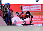 17 December 2010: Shelley Rudman sliding for Great Britain, finishes in 2nd place at the Viessmann FIBT Skeleton World Cup Championships in Lake Placid, New York, USA. Mandatory Credit: Ed Wolfstein Photo