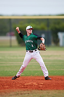 Dartmouth Big Green second baseman Sean Sullivan (4) warmup throw to first base during a game against the Southern Maine Huskies on March 23, 2017 at Lake Myrtle Park in Auburndale, Florida.  Dartmouth defeated Southern Maine 9-1.  (Mike Janes/Four Seam Images)