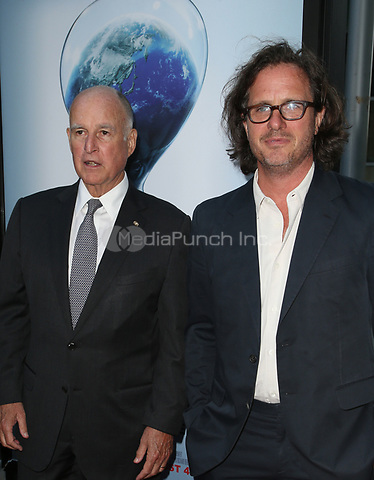 "HOLLYWOOD, CA - JULY 25: Governor Jerry Brown, Davis Guggenheim, At Screening Of Paramount Pictures' ""An Inconvenient Sequel: Truth To Power"" At ArcLight Hollywood In California on July 25, 2017. Credit: FS/MediaPunch"