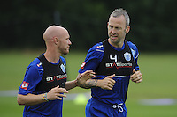 Shaun Derry and Andy Johnson in training