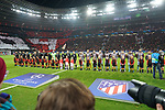 06.11.2019, BayArena, Leverkusen, Championsleague, Vorrunde, 4. Spieltag, GER, UEFA  CL, Bayer 04 Leverkusen (GER) vs. Atletiko Madrid (ESP),<br />  <br /> UEFA regulations prohibit any use of photographs as image sequences and/or quasi-video<br /> <br /> im Bild / picture shows: <br /> die Mannschaften sind eingelaufen <br /> <br /> Foto © nordphoto / Meuter<br /> <br /> <br /> <br /> Foto © nordphoto / Meuter
