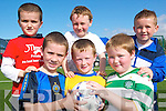 Jamie McVeigh, Darragh Mackessy and Ger Long. Front l-r Liam Halpin, Ben Stack and Aaron Shine all siging up for the Listowel Celtic FC academy at Tanavalla last Saturday.   Copyright Kerry's Eye 2008