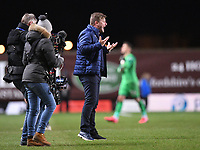 4th February 2020; Kassam Stadium, Oxford, Oxfordshire, England; English FA Cup Football; Oxford United versus Newcastle United; Karl Robinson Manager of Oxford encourages his team before extra time