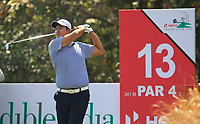 Sihwan Kim (USA) in action on the 13th during Round 4 of the Hero Indian Open at the DLF Golf and Country Club on Sunday 11th March 2018.<br /> Picture:  Thos Caffrey / www.golffile.ie<br /> <br /> All photo usage must carry mandatory copyright credit (&copy; Golffile | Thos Caffrey)