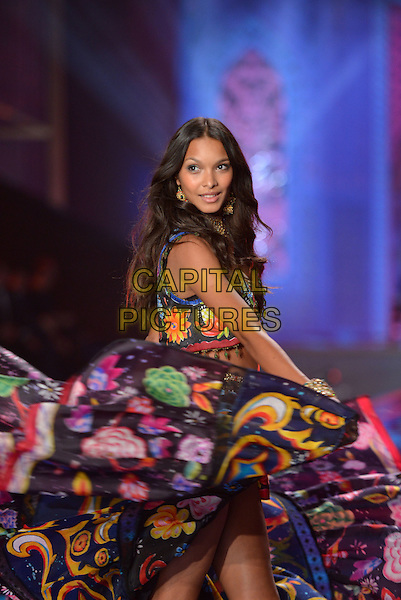 LONDON, ENGLAND - DECEMBER 02: Lais Ribeiro on the runway at the annual Victoria's Secret fashion show at Earls Court on December 2, 2014 in London, England.<br /> CAP/PL<br /> &copy;Phil Loftus/Capital Pictures