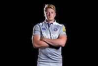Harry Davies poses for a portrait at a Bath Rugby photocall. Bath Rugby Media Day on August 24, 2016 at Farleigh House in Bath, England. Photo by: Rogan Thomson / JMP / Onside Images