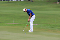 Henrik Stenson (Europe) on the 17th green during the Singles Matches of the Eurasia Cup at Glenmarie Golf and Country Club on the Sunday 14th January 2018.<br /> Picture:  Thos Caffrey / www.golffile.ie