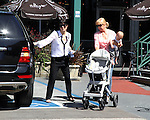 ...April 2nd 2012   Exclusive ..Selma Blair shopping at Whole Foods in Los Angeles with her mom & baby Arthur.  Selma lifted up the big stroller all by herself ...AbilityFilms@yahoo.com.805-427-3519.www.AbilityFilms.com..