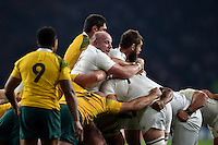 Dan Cole of England in action at a maul. Rugby World Cup Pool A match between England and Australia on October 3, 2015 at Twickenham Stadium in London, England. Photo by: Patrick Khachfe / Onside Images