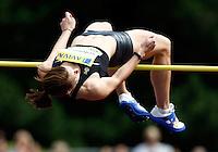 Photo: Richard Lane/Richard Lane Photography..Aviva World Trials & UK Championships athletics. 12/07/2009. Kelly Sotherton in the women's high jump.