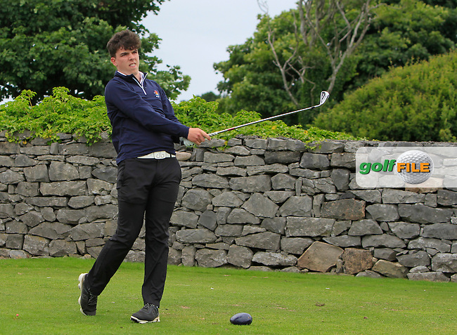Michael O'Farrell (Galway) on the 1st tee during R2 of the 2016 Connacht U18 Boys Open, played at Galway Golf Club, Galway, Galway, Ireland. 06/07/2016. <br /> Picture: Thos Caffrey | Golffile<br /> <br /> All photos usage must carry mandatory copyright credit   (&copy; Golffile | Thos Caffrey)