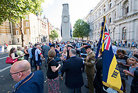 Picture by Allan McKenzie/SWpix.com - 25/08/2017 - Rugby League - Commemorative wreath laying ceremony - The Cenotaph, London, England - The ceremony at the Cenotaph in London for wreath laying prior to the Rugby League Challenge Cup final.