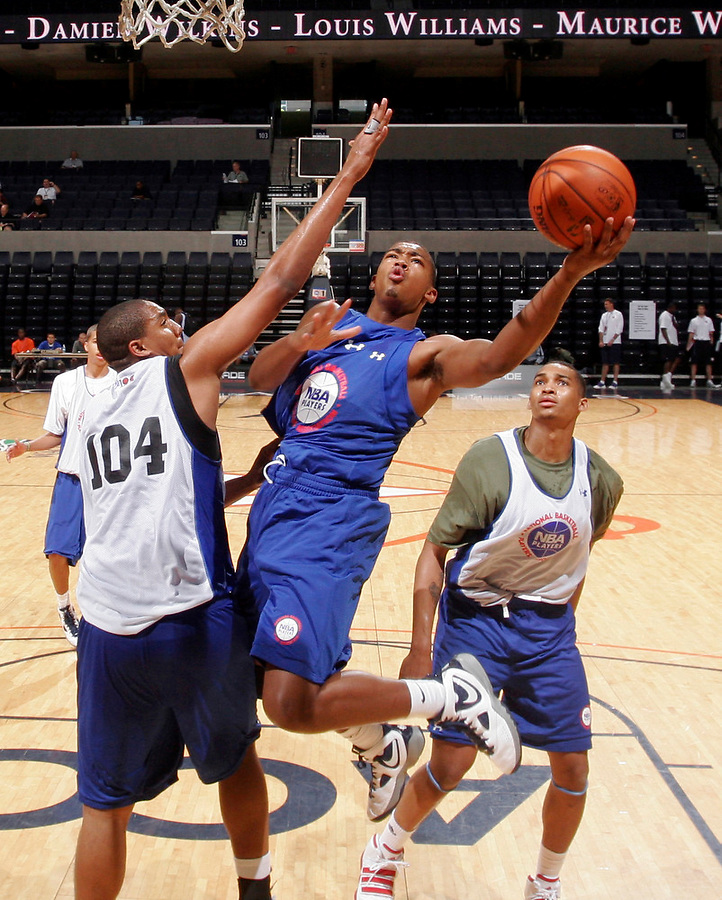 Trevor lacey at the NBPA Top100 camp June 18, 2010 at the John Paul Jones Arena in Charlottesville, VA. Visit www.nbpatop100.blogspot.com for more photos. (Photo © Andrew Shurtleff)
