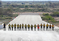 Feb 26, 2017; Chandler, AZ, USA; NHRA safety safari members during the Arizona Nationals at Wild Horse Pass Motorsports Park. Mandatory Credit: Mark J. Rebilas-USA TODAY Sports