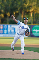 Myrtle Beach Pelicans pitcher Jonathan Martinez (34) on the mound during a game against the Frederick Keys at Ticketreturn.com Field at Pelicans Ballpark on April 7, 2016 in Myrtle Beach, South Carolina. Myrtle Beach defeated Frederick 5-2. (Robert Gurganus/Four Seam Images)