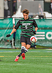 15 November 2015: Binghamton University Bearcat Midfielder Kevin Flesch, a Freshman from Munich, Germany, in action against the University of Vermont Catamounts at Virtue Field in Burlington, Vermont. The Bearcats fell to the Catamounts 1-0 in the America East Championship Game. Mandatory Credit: Ed Wolfstein Photo *** RAW (NEF) Image File Available ***