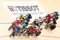 Picture by Alex Whitehead/SWpix.com - 09/12/2017 - Cycling - UCI Track Cycling World Cup Santiago - Velódromo de Peñalolén, Santiago, Chile - Women's Omnium Scratch race. Tissot branding.
